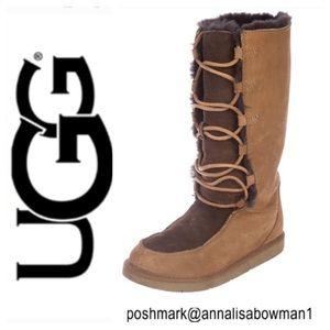 6045cdbc366 Women Ugg Tall Lace Up Boots on Poshmark